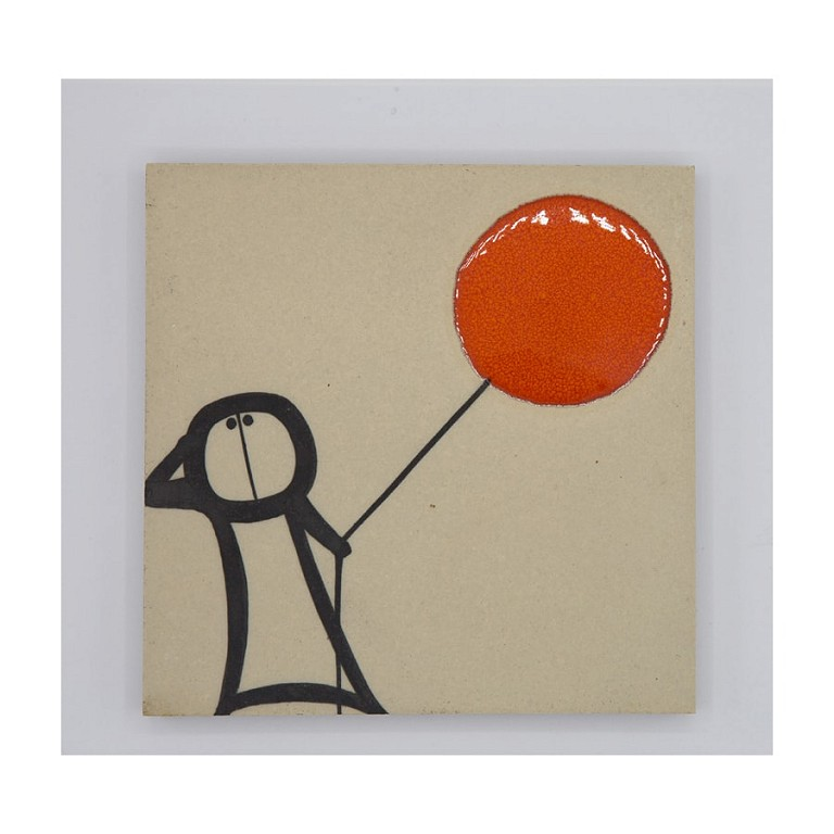 Red Balloon - Tile
