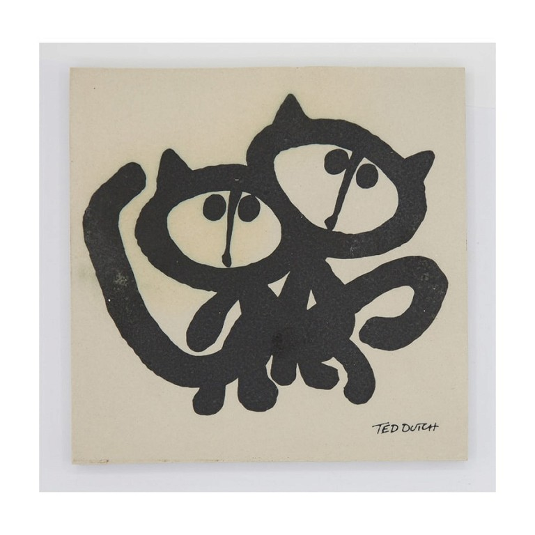 Erotic cats - Tile