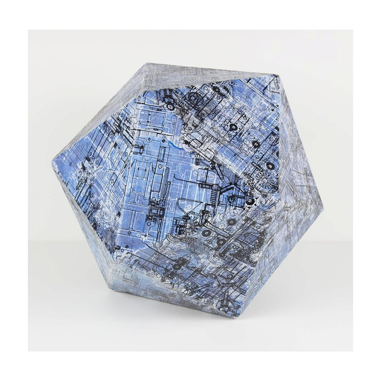 Dodecahedron Blue - Large