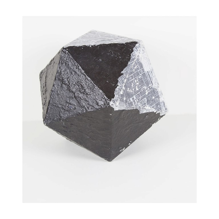Dodecahedron Light Grey - Large