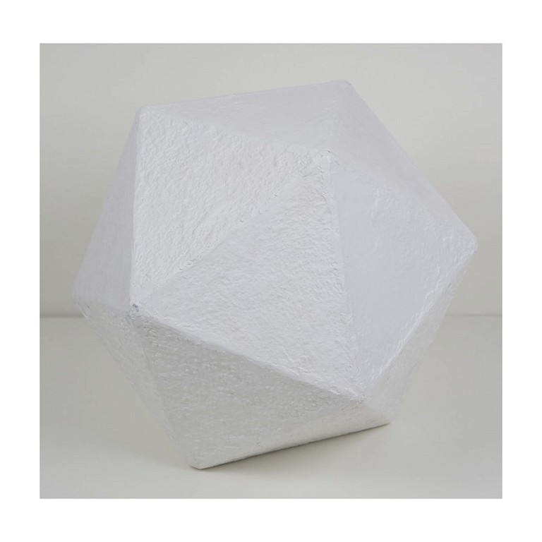 Dodecahedron Pure White - Large