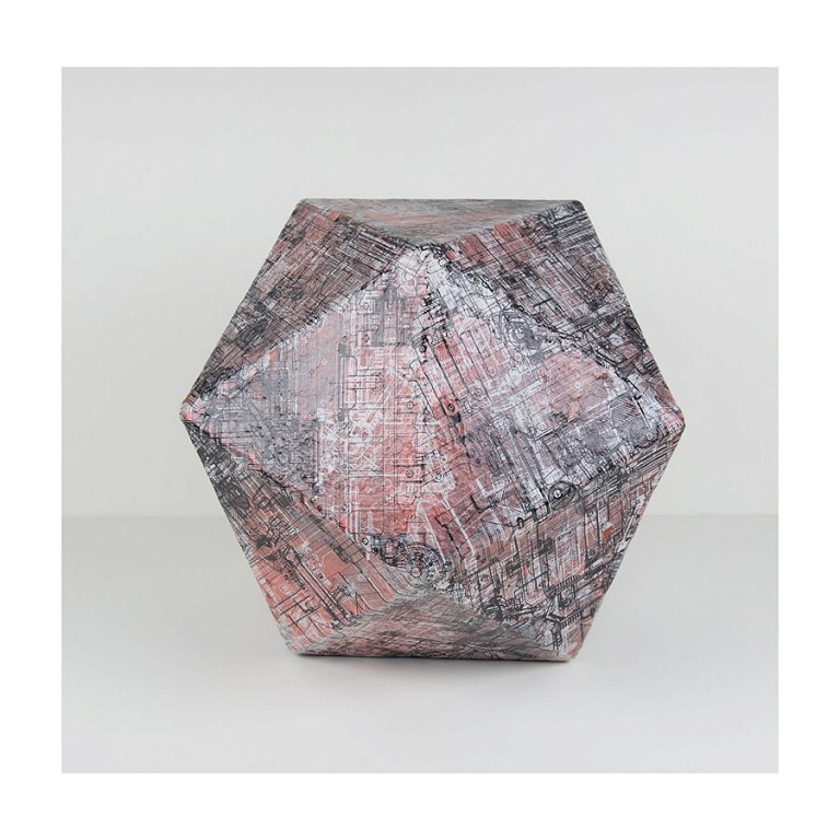 Dodecahedron Red - Large